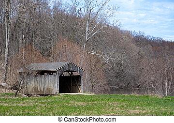old Michigan covered bridge