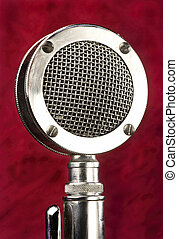 Old Microphone. - Old antique microphone on stand.