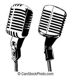 Old microphone vector illustration