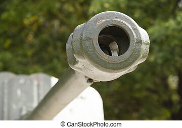 Old military equipment - photographed close-up of old...