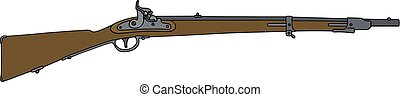 Old military rifle