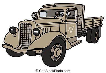 Old military truck