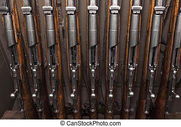 Old military weapons - rifles Mosin custody