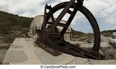 Old mill at the Salinas - Timelapse of an old mill at the...