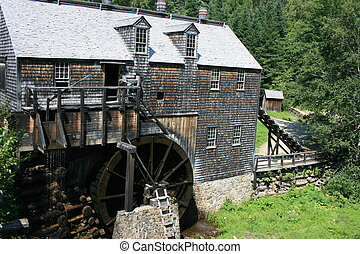 Old Mill - Old saw mill in rural New Brunswick, Canada.