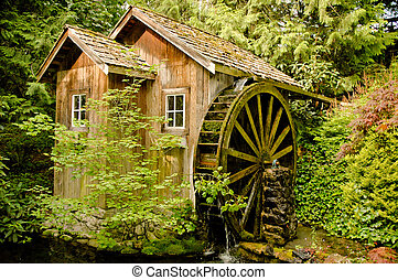 Old Mill on Stream