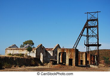 Abandoned old mine in Andalusia, Spain