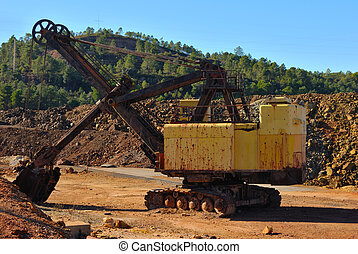 Old mining machine
