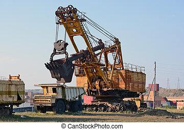"Old mining machinery diamond career ""Mir"""