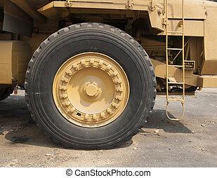 Old mining trucks Caterpillar