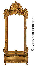 Old mirror in a carved frame