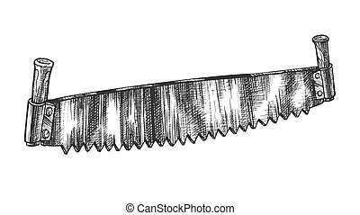 Crosscut saw Clipart and Stock Illustrations. 286 Crosscut ...
