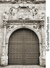 Burgos - Old monastery gate in Burgos, Castile, Spain