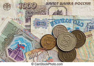 old money of Russia, background.