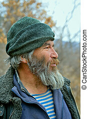 Old Mongoloid Man 34 - A portrait of the old mongoloid man...