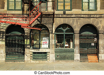 Old Montreal buildings