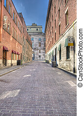Old Montreal street hdr