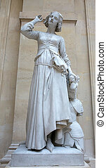 Old Monument of Jeanne d'Arc (Joan of Arc) in louvre museum