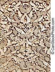 Old moorish stone carving, Granada (14th century)