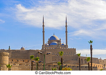 Old mosque in citadel, Cairo, Egypt.