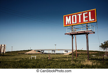 Old motel sign on Route 66