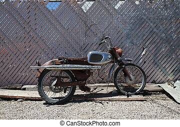 Old motorcycle. Close up