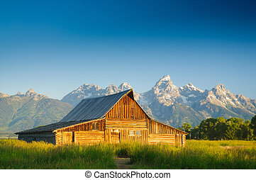 Old Moulton barn in Teton National park