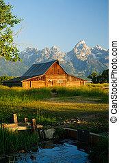 Old Moulton barn in Teton National park