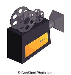 Cartoon old projector EPS Vector | csp34052125