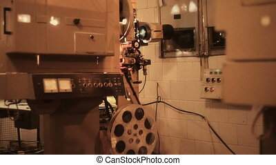 Old movie projector - Old projector at a cinema