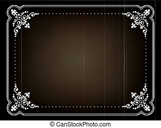 old movie vector  - old silent movie  title frame