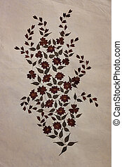 Old Mulberry paper with dry flower