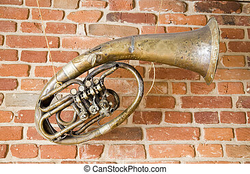 old music instrument on the wall
