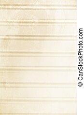 Old music sheet - An old blank music sheet