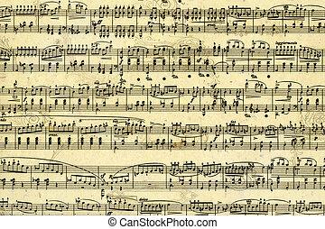 music sheet page - Old music sheet page - art background