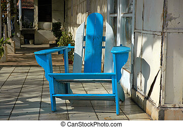 Adirondack Chair - Old Muskoka/Adirondack Chair on a Front...