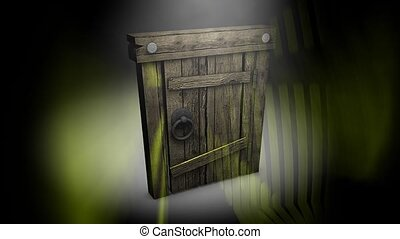 Mysterious door - Old Mysterious door.