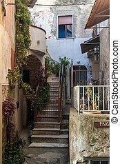 Old narrow street in Agropoli