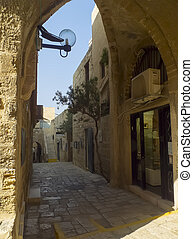 Old Narrow Street in Jaffa