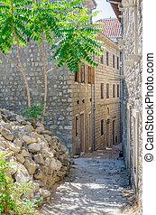 Old narrow street in Ulcinj.