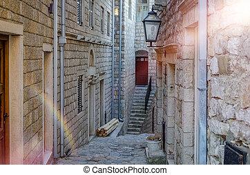 Old narrow street in Ulcinj