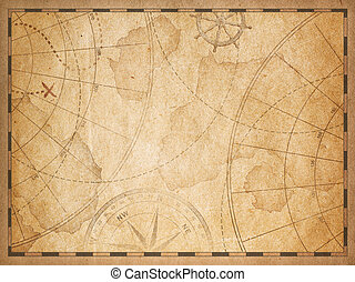 old nautical map background - old nautical treasure vintage...