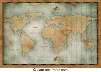 Old world map background old nautical vintage world map stock old nautical world map background gumiabroncs Image collections