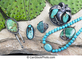 Old Navajo Turquoise. - Old Native American Navajo indian...