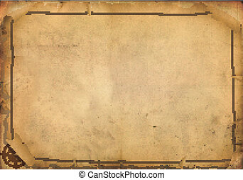 navigation map - old navigation map on ancient parchment ...
