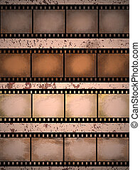 grunge textured film strip