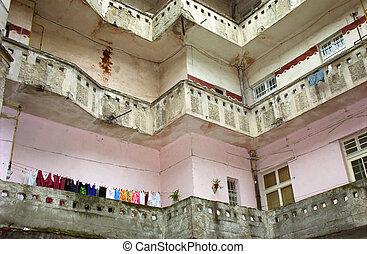 Old neighbourhood - Old apartments in Arad, Romania