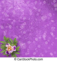 Old newspaper background with bunch of flower