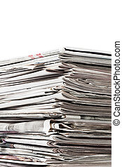 old newspapers for recycle