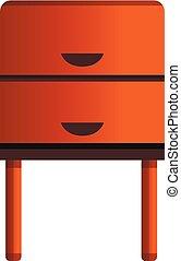 Old nightstand icon, cartoon style